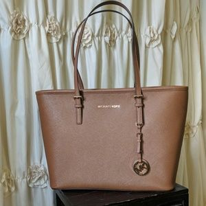 NWT Michael Kors Brown Leather Tote